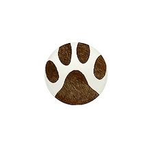fur paw print Mini Button