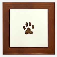 fur paw print Framed Tile