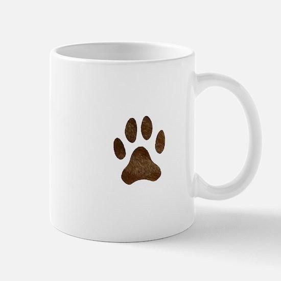 fur paw print Mug