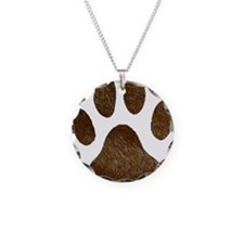 fur paw print Necklace