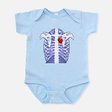skelatonwheart.png Infant Bodysuit