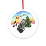 Take Off - Siberian Cat Ornament (Round)