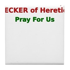 St. Nickolas Decker of heretics Tile Coaster