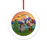 XmasFantasy-Bengal Cat Ornament (Round)