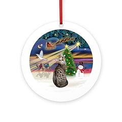 XmasMagic - Bengal Cat Ornament (Round)