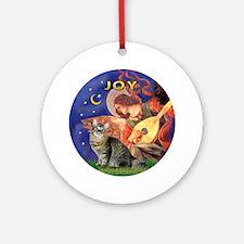Angel3-Bobtail Cat Ornament (Round)