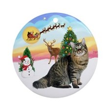 Take Off - American Bobtail Cat Ornament (Round)