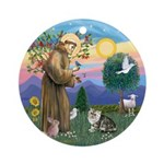 StFrancis-Excotic Short Hair cat Ornament (Round)
