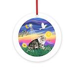 Twilight - Exotic Short Hair Cat Onament (Round)