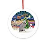 XmasMagic - Peterbald cat Ornament (Round)