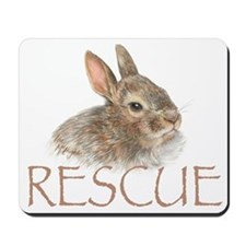 Bunny rabbit rescue Mousepad