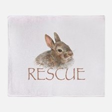 Bunny rabbit rescue Throw Blanket