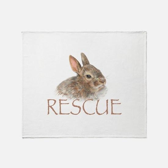 Bunny rabbit rescue Throw Blanket