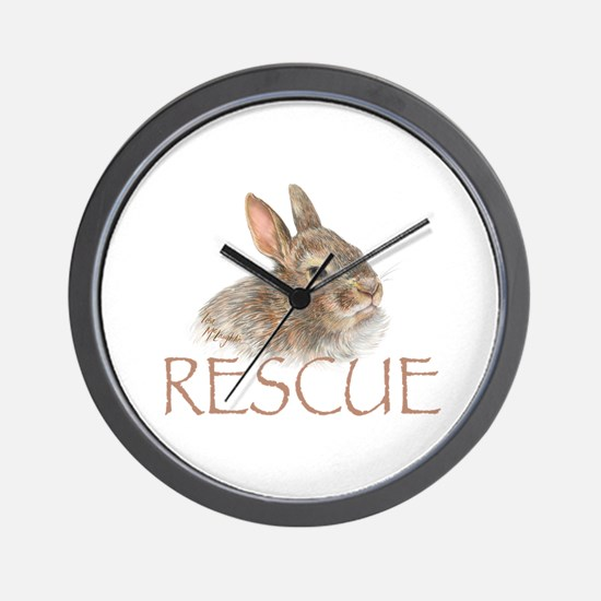 Bunny rabbit rescue Wall Clock
