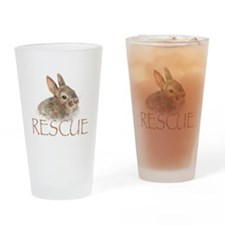 Bunny rabbit rescue Drinking Glass