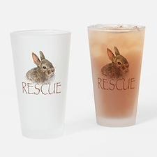 Bunny rabbit rescue Drinking Glass