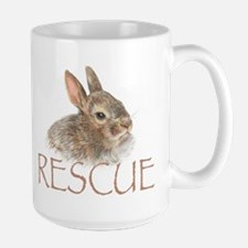 Bunny rabbit rescue Large Mug