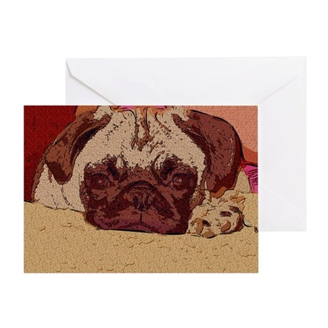 Cute Pug Puppy Greeting Card