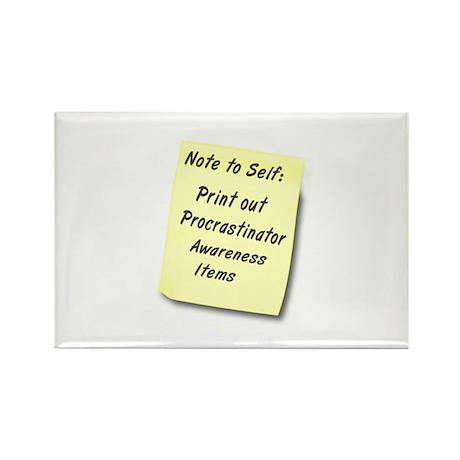 Procrastinators Rectangle Magnet (100 pack)