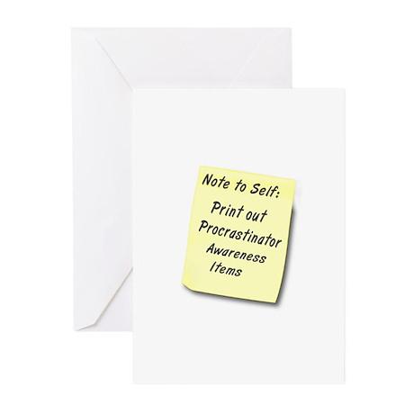 Procrastinators Greeting Cards (Pk of 10)