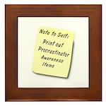 Procrastinators Framed Tile
