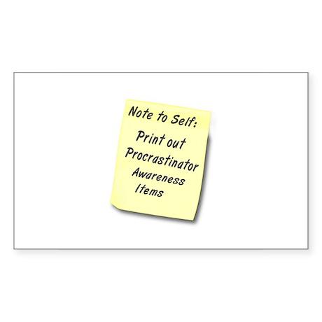 Procrastinators Rectangle Sticker