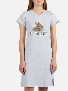 Bunny rabbit rescue Women's Nightshirt