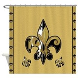 Black and gold shower curtain Shower Curtains