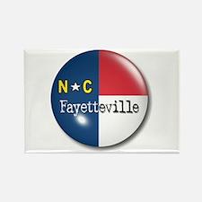 Fayetteville North Carolina Flag Rectangle Magnet