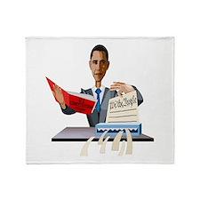Obama Shredding the Constitution Throw Blanket