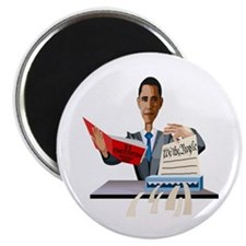 Obama Shredding the Constitution Magnet