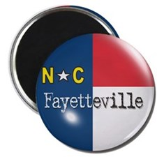 Fayetteville North Carolina Flag Magnet