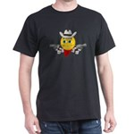 Cowboy Smiley Face Black T-Shirt