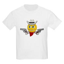 Cowboy Smiley Face Kids T-Shirt