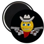 Cowboy Smiley Face Magnet