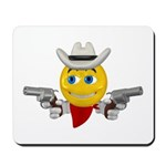 Cowboy Smiley Face Mousepad