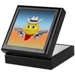 Cowboy Smiley Face Keepsake Box