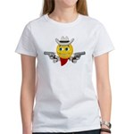 Cowboy Smiley Face Women's T-Shirt