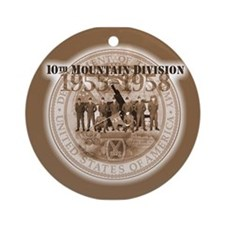 10th Mountain Division Ornament (Round)
