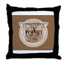 10th Mountain Division Throw Pillow