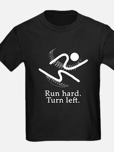run hard. turn left. T-Shirt