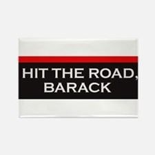 Hit The Road Barack Rectangle Magnet