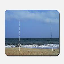 Ocean Between Fishing Poles Mousepad