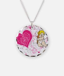 Cupid pink and white hearts Necklace