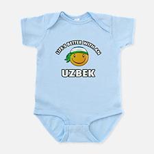 Lifes better with an Uzbek Infant Bodysuit