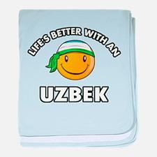 Lifes better with an Uzbek baby blanket