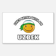 Lifes better with an Uzbek Decal