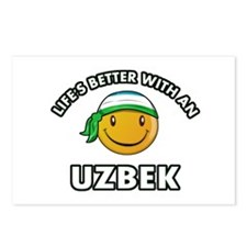 Lifes better with an Uzbek Postcards (Package of 8