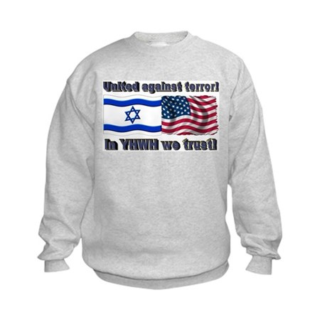 United against terror! Kids Sweatshirt
