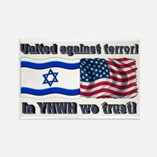 United against terror! Rectangle Magnet